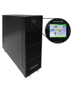SAI Online 20 kVA Trifásico  Display a color, DSP, Factor de salida 0,9...